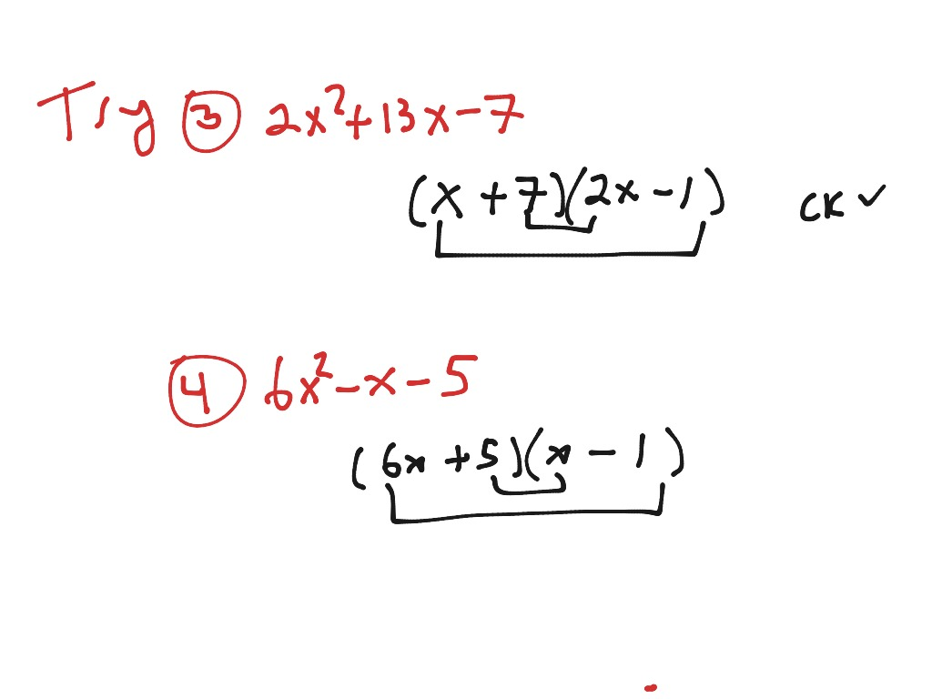 Uncategorized Factoring Trinomials Of The Form Ax2 Bx C Worksheet showme factoring trinomials with form ax2 bx c c
