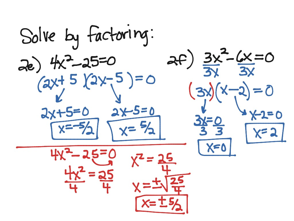 Uncategorized Solving Equations By Factoring Worksheet showme solving quadratic equations by factoring 4 5 factoring