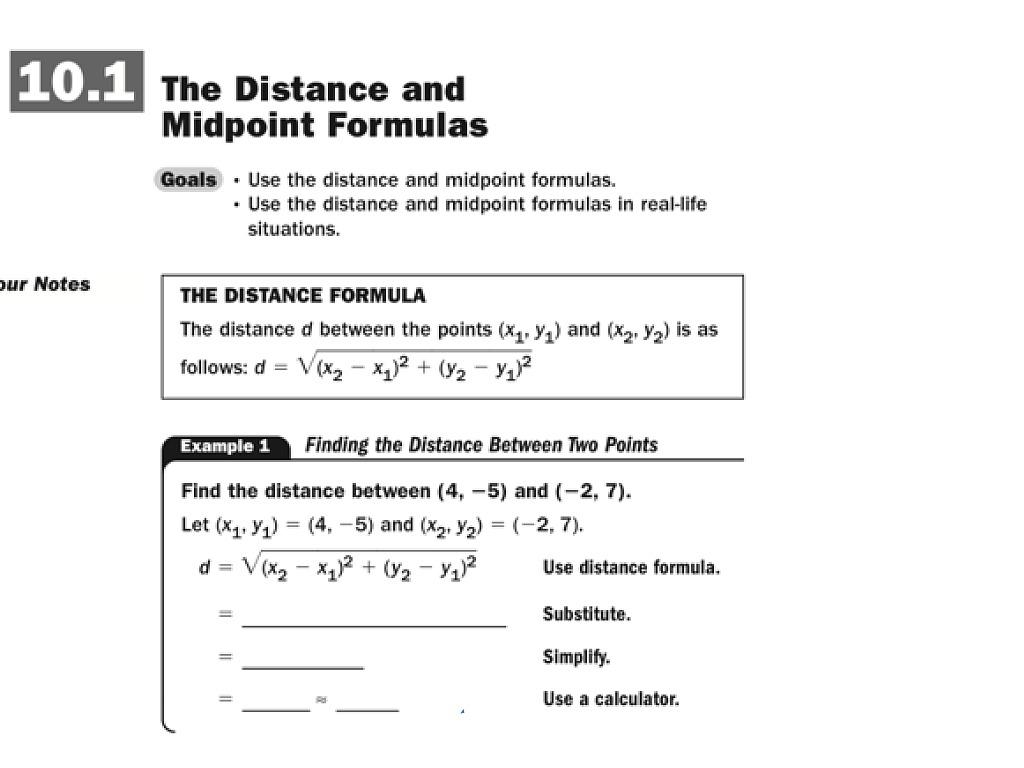 Distance Formula Worksheet blank graph sheets – Midpoint Formula Worksheet
