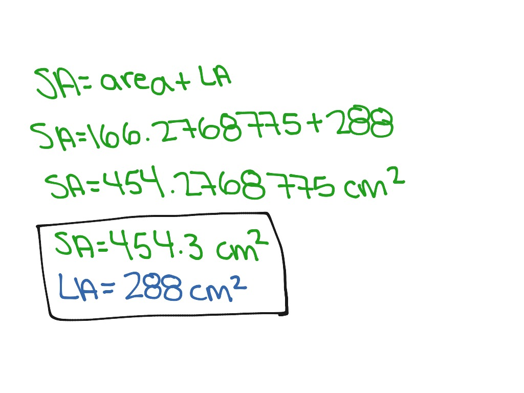 How To Find The Lateral And Surface Area Of A Hexagonal Pyramid  Math,  Geometry, Surface Area, Lateral Area  Showme