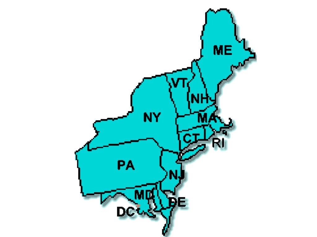 Firstthumbjpg - Map of northeast states in usa